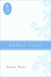 Cover of: Robert Frost