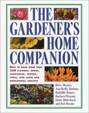 Cover of: The Gardener's Home Companion