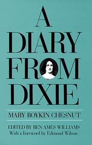 Cover of: A Diary From Dixie