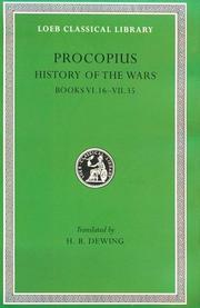 Cover of: Procopius: History of the Wars