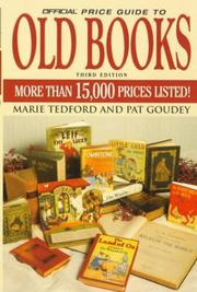 Cover of: The Official Price Guide to Old Books