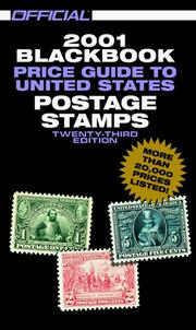 Cover of: The Official 2001 Blackbook Price Guide to United States Postage Stamps, 23rd Edition (Official Blackbook Price Guide to U.S. Postage Stamps)