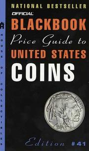 Cover of: The Official 2003 Blackbook Price Guide to U.S. Coins, 41st edition (Official Blackbook Prie Guide to United States Coins)