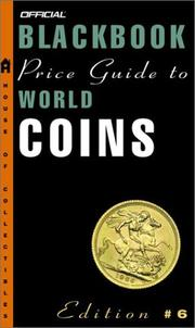 Cover of: The Official 2003 Blackbook Price Guide to World Coins, 6th edition (Official Price Guide to World Coins)