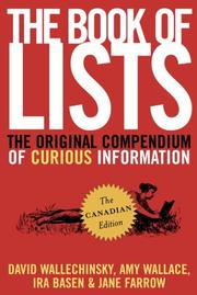 Cover of: The Book of Lists, The Canadian Edition