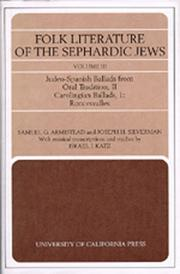 Cover of: Folk Literature of the Sephardic Jews: Vol. III: Judeo-Spanish Ballads from Oral Tradition, II; Carolingian Ballads, 1; Roncesvalles (Folk Literature of the Sephardic Jews)
