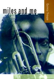 Cover of: Miles and Me (George Gund Foundation Imprint in African American Studies)