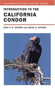 Cover of: Introduction to the California Condor (California Natural History Guides)