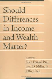 Cover of: Should differences in income and wealth matter?
