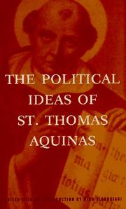 Cover of: The political ideas of St. Thomas Aquinas: representative selections
