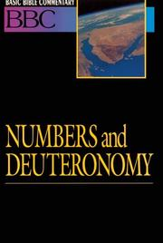 Cover of: Numbers, Deuteronomy