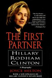 Cover of: The First Partner: Hillary Rodham Clinton