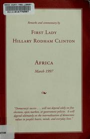 Cover of: Remarks and commentary by First Lady Hillary Rodham Clinton