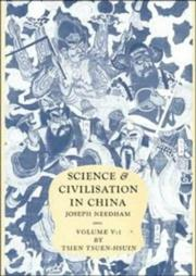 Cover of: Science and Civilisation in China