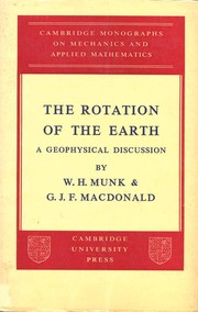 Cover of: The rotation of the earth