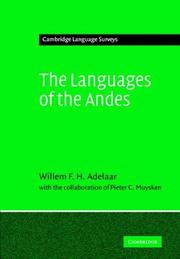 Cover of: The Languages of the Andes