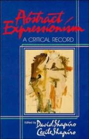 Cover of: Abstract Expressionism: A Critical Record