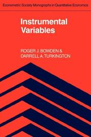 Cover of: Instrumental Variables (Econometric Society Monographs)