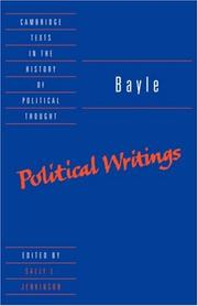 Cover of: Bayle