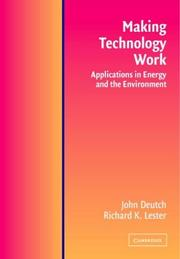 Cover of: Making Technology Work