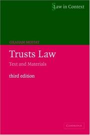 Cover of: Trusts Law