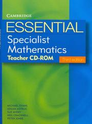 Cover of: Essential Specialist Mathematics Third Edition Teacher CD-Rom (Essential Mathematics)