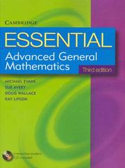 Cover of: Essential Advanced General Mathematics Third Edition with Student CD-Rom (Essential Mathematics)