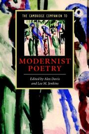 Cover of: The Cambridge companion to modernist poetry