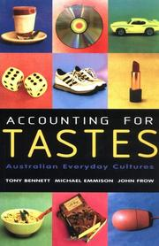Cover of: Accounting for Tastes