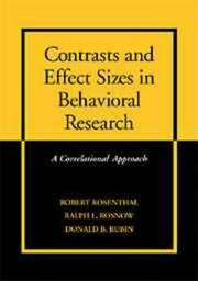 Cover of: Contrasts and Effect Sizes in Behavioral Research
