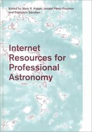 Cover of: Internet resources for professional astronomy