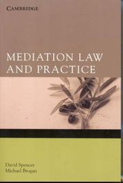 Cover of: Mediation Law and Practice