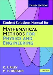Cover of: Student Solution Manual for Mathematical Methods for Physics and Engineering Third Edition