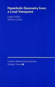Cover of: Hyperbolic Geometry from a Local Viewpoint (London Mathematical Society Student Texts)