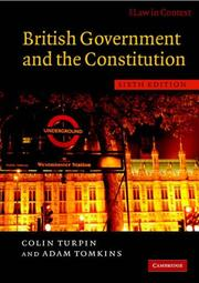 Cover of: British Government and the Constitution