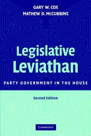 Cover of: Legislative Leviathan