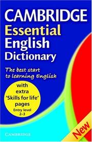 Cover of: Cambridge Essential English Dictionary, Skills for Life