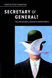 Cover of: Secretary or general?