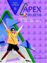 Cover of: Apex Maths 6 Pupil's Textbook