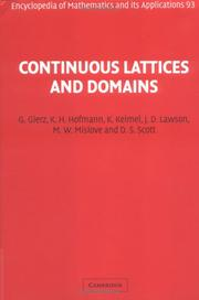 Cover of: Continuous Lattices and Domains (Encyclopedia of Mathematics and its Applications)