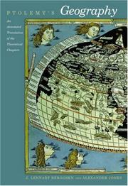 Cover of: Ptolemy's Geography