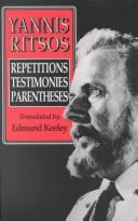 Cover of: Yannis Ritsos