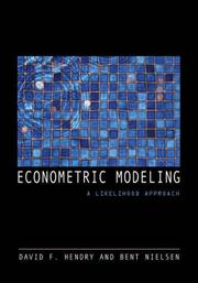 Cover of: Econometric Modeling
