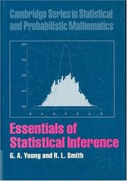 Cover of: ESSENTIALS OF STATISTICAL INFERENCE