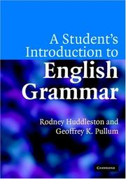 Cover of: A Student's Introduction to English Grammar