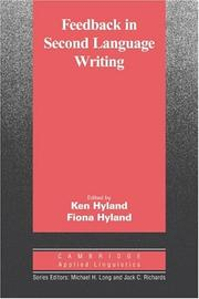 Cover of: Feedback in second language writing