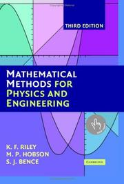 Cover of: Mathematical Methods for Physics and Engineering