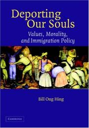 Cover of: Deporting Our Souls: Values, Morality, and Immigration Policy