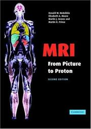 Cover of: MRI from Picture to Proton