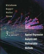 Cover of: Applied Regression Analysis and Multivariable Methods